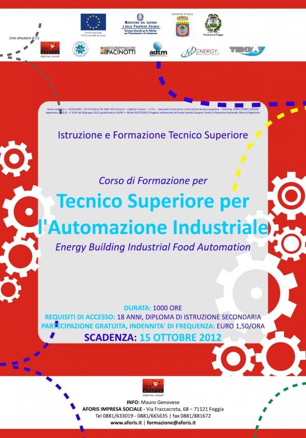 Tecnico superiore per l'automazione industriale